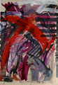 Titel: Katalogübermalung; Serie: Collage; Technik: Mischtechnik auf Papier; Datum: 08/85; Format (HxB): 29,5 x 20 cm