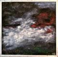 Unwrapped Painting; Technik: Mischtechnik; Datum: April 1985; Format (HxB): 112 x 116 cm