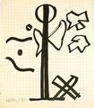 Ohne Titel; Technik: Filzstift auf Papier; Datum: 1985; Format (HxB): 35 x 30 cm