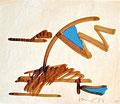 Ohne Titel; Technik: Nescafé; Datum: 1984; Format (HxB): 30 x 35 cm
