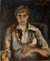 Porträt Barbara; Technik: Öl auf Hartpappe; Datum: Juni 1977; Format (HxB): 61 x 50,5 cm (in Privatbesitz)