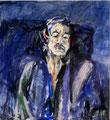 Porträt Achim Zellermayer; Technik: Mischtechnik; Datum: Mai 1986; Format (HxB): 90 x 82 cm