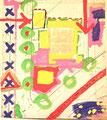 Ohne Titel; Technik: Tempera auf Papier; Datum: Februar 1986; Format (HxB): 66 x 87 cm