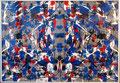 Ohne Titel (Schmetterlingsbild); Technik: Tempera auf Papier; Format (HxB): 71 x 100 cm