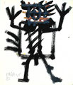 Ohne Titel; Technik: Mischtechnik; Datum: 1985; Format (HxB): 35 x 30 cm