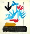 Ohne Titel; Technik: Mischtechnik auf Papier; Format (HxB): 35 x 30 cm