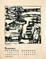 Titel: Kalenderblatt Dezember; Technik: Siebdruck; Datum:1979; Format (HxB): 63 x 49 cm
