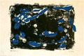 Ohne Titel; Technik: Kontaktdruck Tempera auf Papier; Datum: November 1996; Format (HxB): 40 x 60  cm