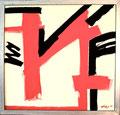 Titel: Berliner N; Technik: Mischtechnik; Datum: September 1984; Format (HxB): 112 x 117 cm