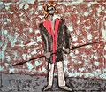 Titel: Der Bote; Technik: Mischtechnik mit Zement auf Leinwand; Datum: Oktober 1993; Format (HxB): 120 x 140 cm