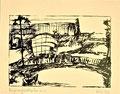 Titel: Der preußische Ikarus; Technik: Siebdruck; Datum:1980; Format (HxB): 39 x 49 cm