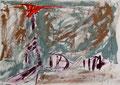 Ohne Titel; Technik: Mischtechnik; Datum: 85/08; Format (HxB): 21 x 30 cm