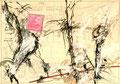 Ohne Titel; Technik: Tempera auf Papier; Datum: April 1986; Format (HxB): 70 x 100 cm