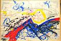 Ohne Titel; Technik: Tempera auf Papier; Datum: Februar 1986 Format (HxB): 70 x 100 cm (im Besitz der SKD Dresden, KupferstichKabinett)
