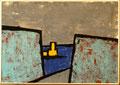 Titel:Durchbruch; Technik: Tempera auf Papier; Datum: 1992; Format (HxB): 71 x 100 cm
