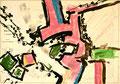 Ohne Titel; Technik: Tempera auf Papier; Datum: Mai 1986; Format (HxB): 70 x 100 cm