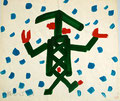 Chinese im Schnee; Datum: 1984; Format (HxB): 30 x 35 cm
