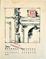 Einladung Uwe Kolbe , 29.März 1981 Schönfließer Straße 21/- Kalenderblatt Juni; Technik: Siebdruck; Datum:1980; Format (HxB): 63 x 49