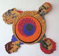Siegestaumel (Cut-out für eine Drehplatte oder an die Wand zu hängen) 2004, Acryl, Gouache auf Sperrholz und MDF, Schrankgriffe