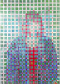 """Pixel Transition"" 高森幸雄 2013 acrylic on digital print 1030×728mm デジタルプリント、アクリル Exhibition:2013年12月 Gallery檜B"