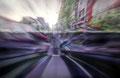 """Trafficscape (Surface) "" 高森幸雄 2014 acrylic on plywood 1000×652mm シナベニヤにアクリル"