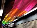 """""""えこだらぼっち"""" 高森幸雄 × 今村克 2014 vinyl chloride, acrylic resin, pigment ポリ塩化ビニル、アクリル樹脂、顔料 Exhibition: 2014 江古田市場商店街"""