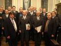 Ernst Meister und Manfred Breinig Ehrung 65 Jahre Sänger beim MGV