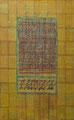 La Divine Comédie, marouflages, technique mixte/ toile, 100 x 160 cm