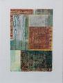 Lettres vagabondes, estampe-collage sur papier velin, 56x 76 cm
