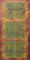 Sommeil,  marouflage, technique mixte/ toile,  75 x 150 cm