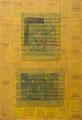 Les Pierres de lune, marouflages, technique mixte toile, 89 x 130  cm