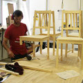 Tim working on Double Chair
