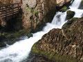 Zwischen den beiden Wasserfällen