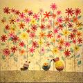 花畑(entre las flores) 430 × 400mm