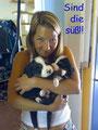 Besuch von Frauchens Schwester Silke :-) man sieht die verliebt aus :-)))