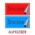 Aufkleber Sticker bei ZIMA