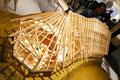 オカムラは簡単に木質空間を創出できる「LODGE」などの木材製品を展示