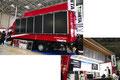 トミタの太陽光発電ステージ車「PVチャージステージング」