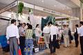 自然エネルギーを推進する市民団体による展示