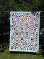 """Decke """"Big brother"""", RS aus BW blau-rot [180x138 cm]"""