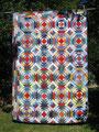 """Decke """"Anni Ananas"""", RS aus Fleece grün [192x134 cm]"""