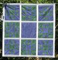 Weihnacht grün-blau-silber [108x108 cm]