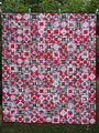 """Wandbehang """"Lady in red"""", RS aus BW beige [149x129 cm]"""