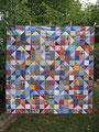 "Wandbehang ""Sternenvariation"", RS aus BW braun [133x133 cm]"