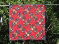 Weihnacht rot-blau-gold [73x73 cm)