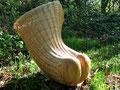 Paniers-corps, bois sculpté et vannerie d'osier blanc, 2007