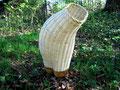 Panier-corps, bois sculpté et vannerie d'osier blanc, 2007