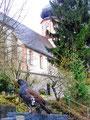 Auerhahn Anton verabschiedet sich auf dem Friedhof von St. Trudpert vom Münstertal