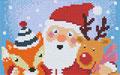 Père Noël, élan, renard