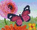 Papillon rose